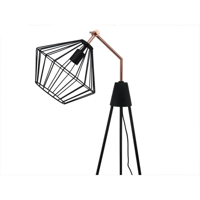 Lampe sur pied industriel ABIGAEL (noir) - image 41008