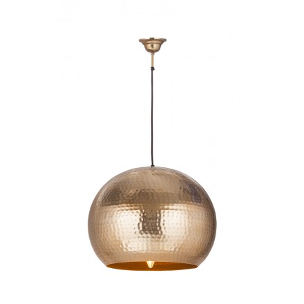 Hanging light industrial factory metal H 52 cm Ø 47 cm SAVANNAH (copper)