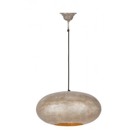 Lampe suspendue industriel en métal H 20 cm Ø 40 cm KIARA (champagne)