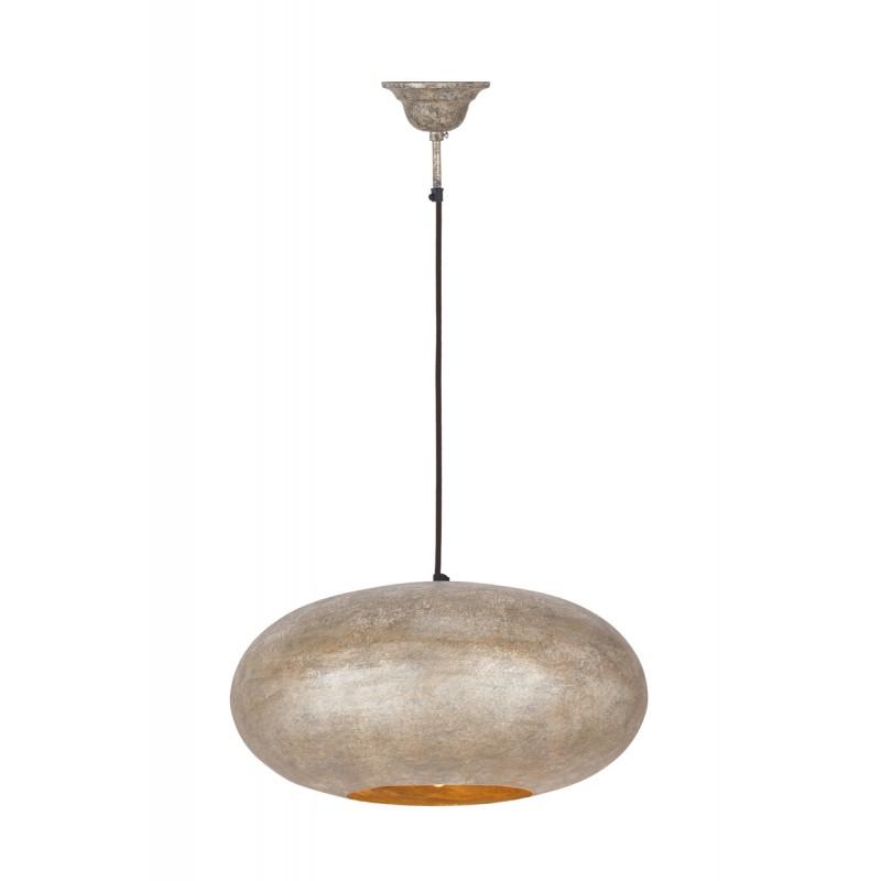Lampe suspendue industriel en métal H 20 cm Ø 40 cm KIARA (champagne) - image 41014