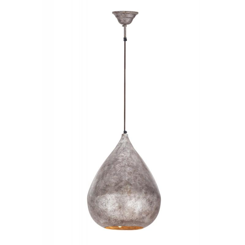 Lampe suspendue industriel en métal H 44 cm Ø 33 cm MERYL (bronze) - image 41015