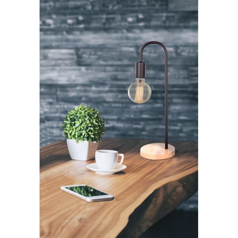 Lampe de table design en métal H 47 cm Ø 15 cm ARIANE (noir) - image 41039
