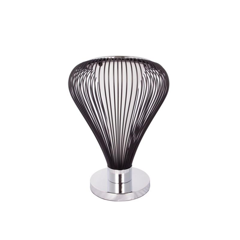 Lampe de table design en métal H 45 cm Ø 34 cm TIFFANY (noir) - image 41053