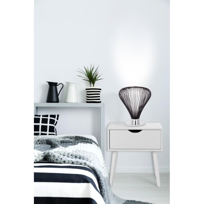Lampe de table design en métal H 45 cm Ø 34 cm TIFFANY (noir) - image 41054