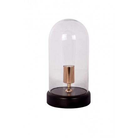 Lampe de table cloche design en verre LOUKIA (transparent)
