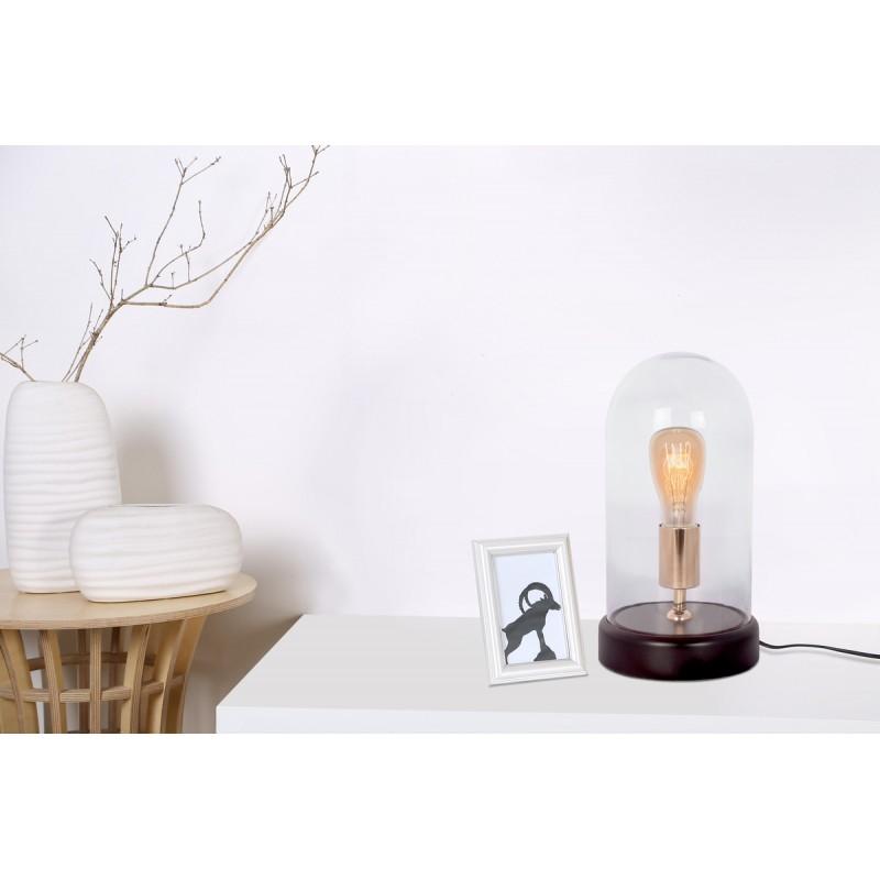 Lampe de table cloche design en verre LOUKIA (transparent) - image 41090