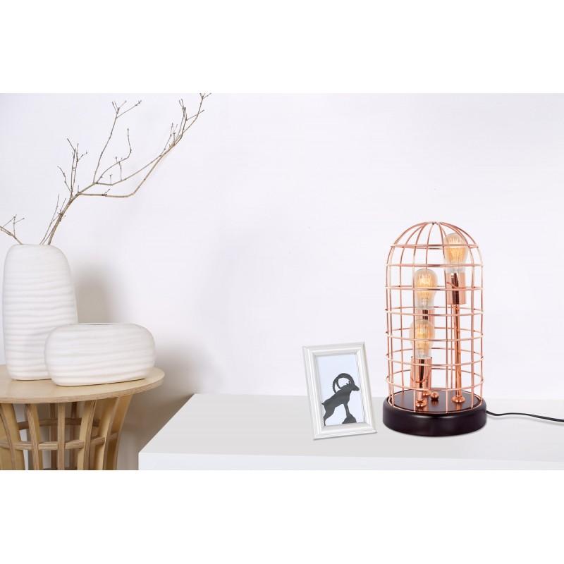 Lampe de table cloche en métal cuivré LEXA (cuivre) - image 41096