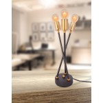 Design table lamp 3 SOLVEIG (black) metal rods