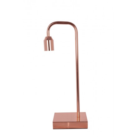 Lampe De Table Design En Metal Philae Cuivre