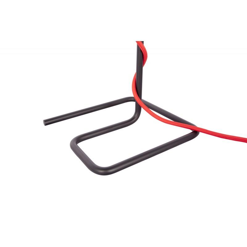 Lámpara de mesa de metal de LAYANA (negro) cable rojo - image 41106