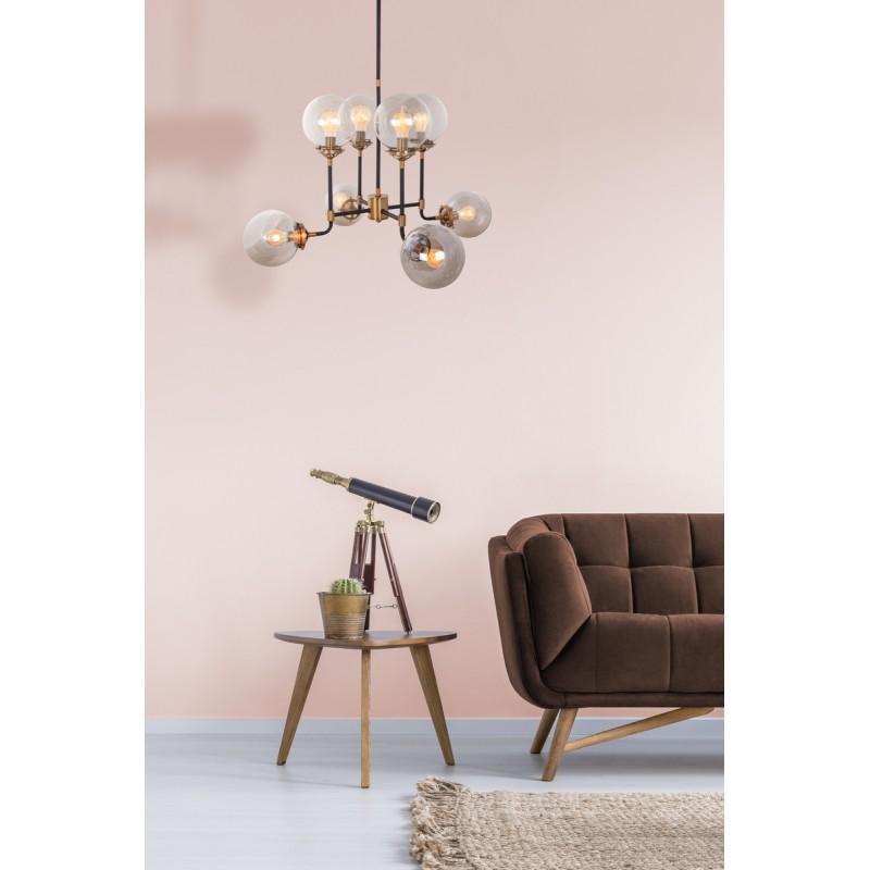 design h 100 cm 75 cm schwarz metall lampe aufh ngen. Black Bedroom Furniture Sets. Home Design Ideas
