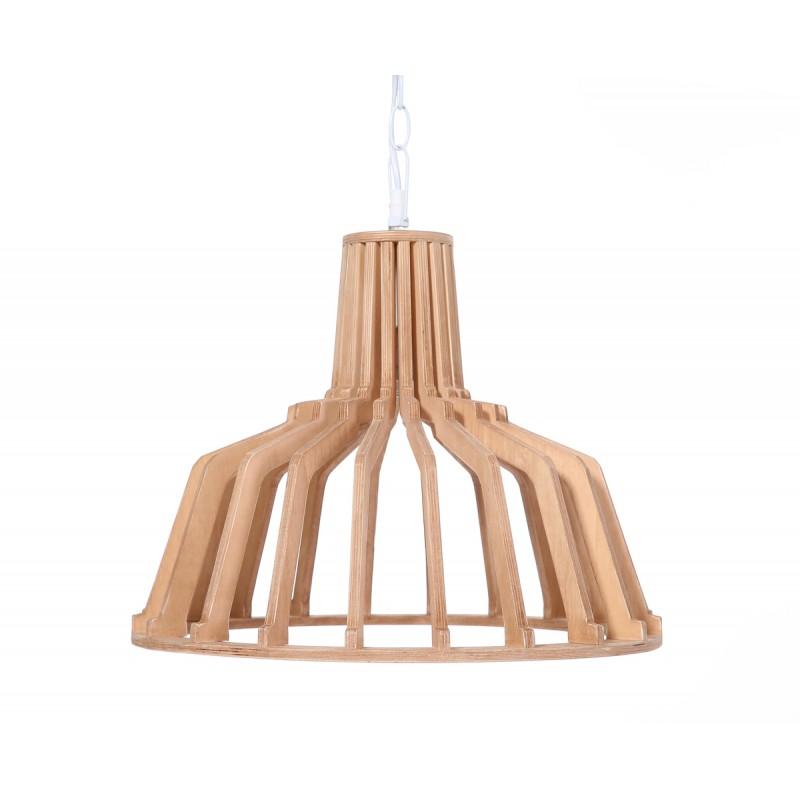 Lampe à suspension scandinave en bois H 39 cm Ø 41 cm TIYA (naturel) - image 41127