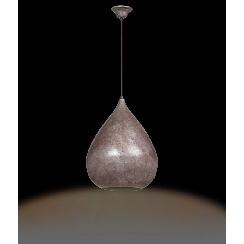 Lampe suspendue industriel en métal H 44 cm Ø 33 cm MERYL (bronze) - image 41173