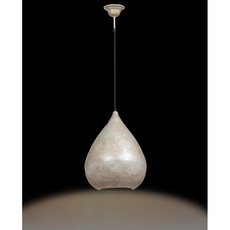 Lampe suspendue industriel H 44 cm Ø 33 cm MERYL (champagne) - image 41174