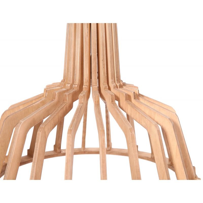 Lampe à suspension scandinave en bois H 39 cm Ø 41 cm TIYA (naturel) - image 41180