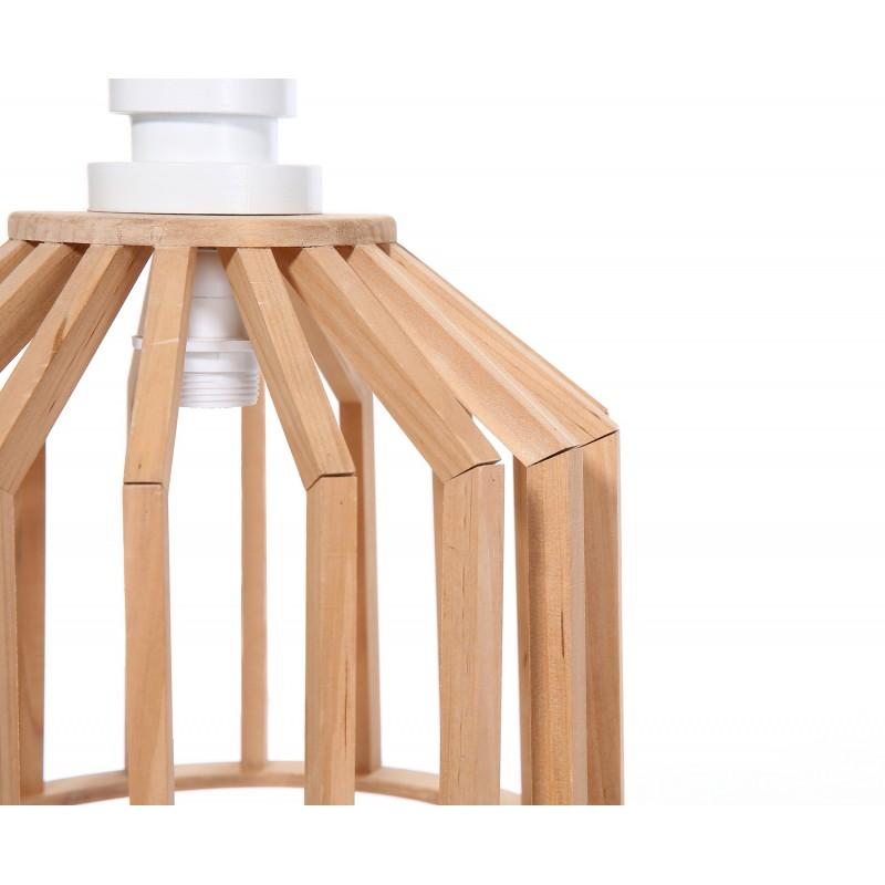 Lampe à suspension scandinave en bois H 39 cm Ø 33 cm TIYA (naturel) - image 41182