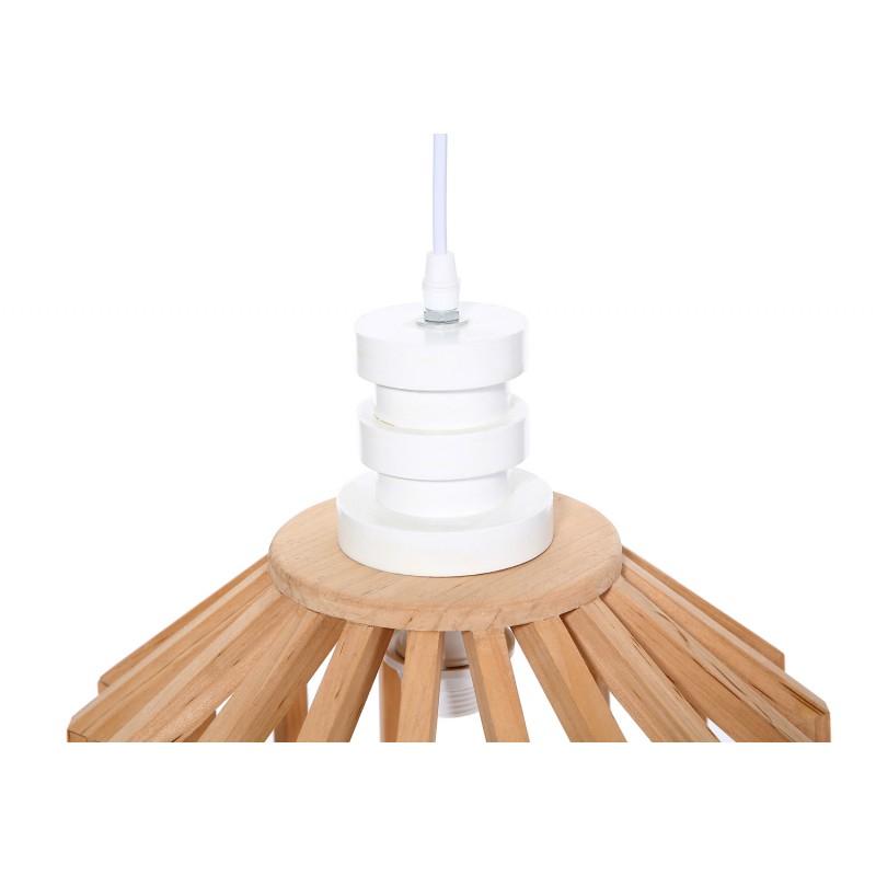 Lampe à suspension scandinave en bois H 39 cm Ø 33 cm TIYA (naturel) - image 41183