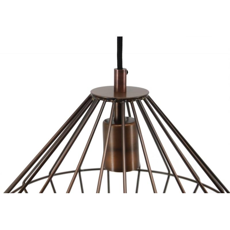 Lampe à suspension industriel H 37 cm Ø 29 cm YOURRY (cuivre) - image 41208