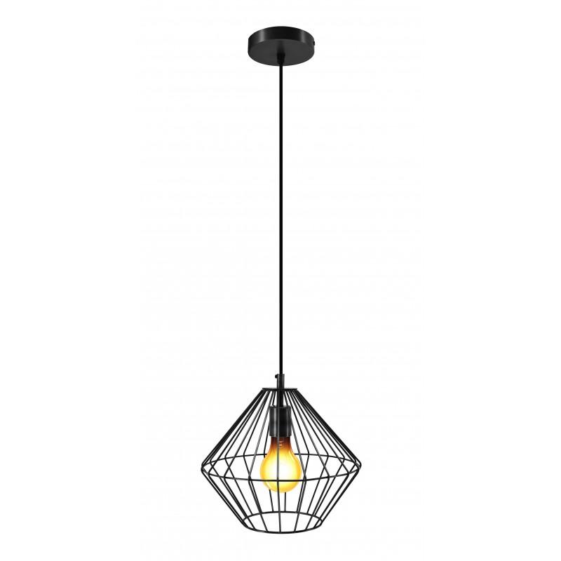 Lampe à suspension industriel H 37 cm Ø 29 cm YOURRY (noir) - image 41210