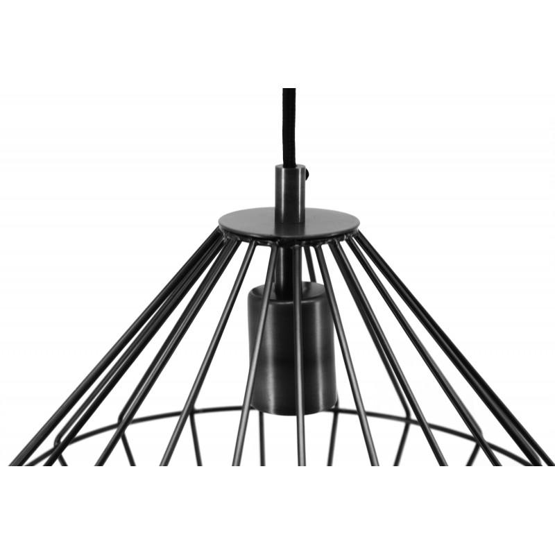 Lampe à suspension industriel H 37 cm Ø 29 cm YOURRY (noir) - image 41211