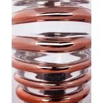 Moderne H 29 cm Ø 17 cm ALADDIN Tischlampe Glas (Transparent / Kupfer)