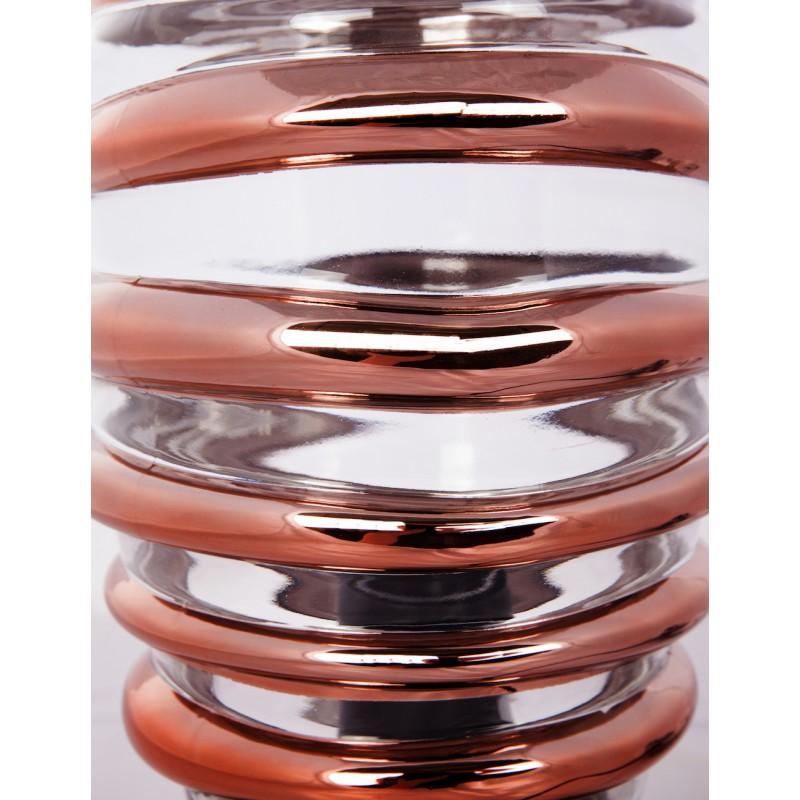 Modern H 29 cm Ø 17 cm ALADDIN glass table lamp (Transparent / copper) - image 41234