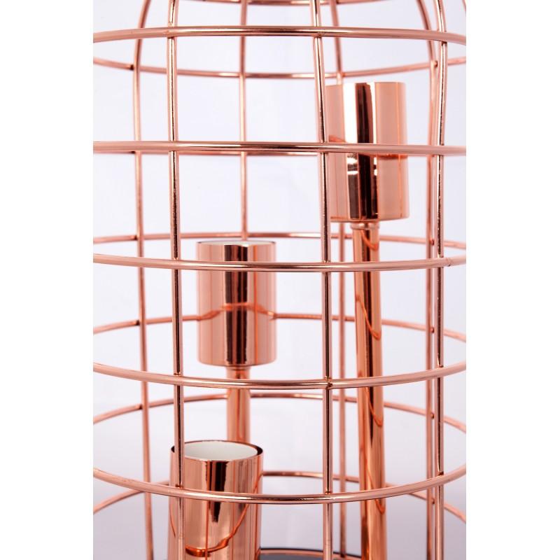 Lampe de table cloche en métal cuivré LEXA (cuivre) - image 41265