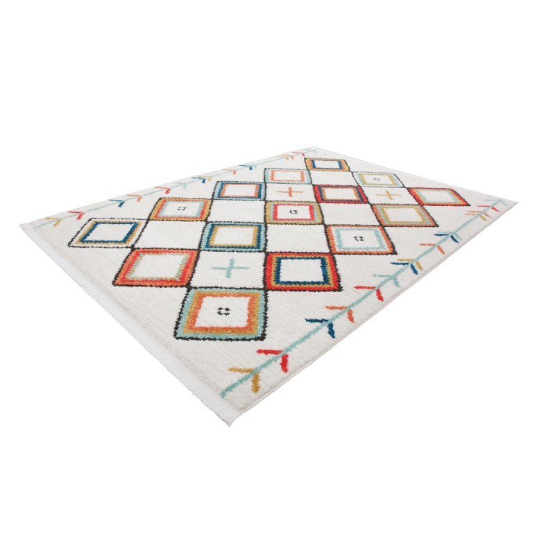 Tapis ethnique MARRAKECH rectangulaire tissé à la machine (Multicolore) - image 41297