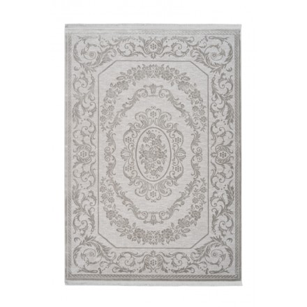 SAN MARINO rectangular oriental rug woven machine (grey)
