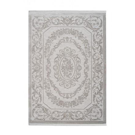SAN MARINO rettangolare oriental tappeto tessuto macchina (grigio)