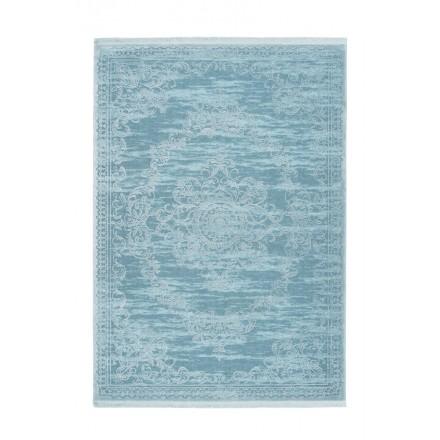 Oriental Rug Rectangular Whiuch Woven Machine Turquoise Blue