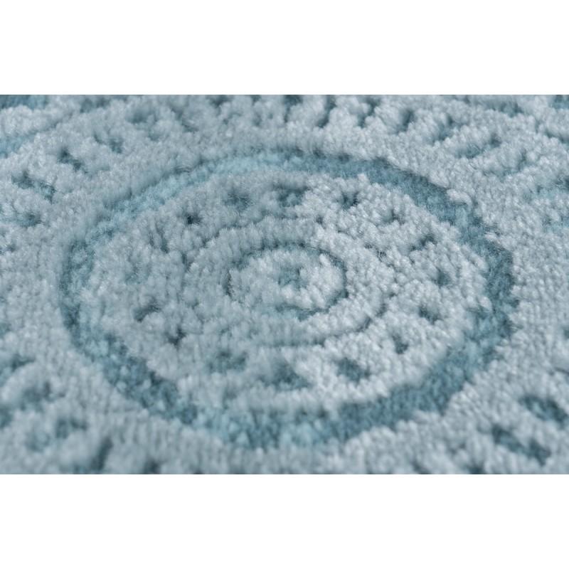Tapis Oriental Furino Rectangulaire Tisse A La Machine Bleu Turquoise