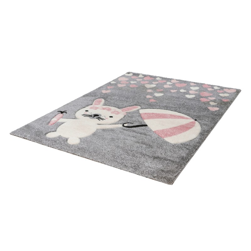 Tapis Enfant DARWIN rectangulaire tissé à la machine (Rose) - image 41358