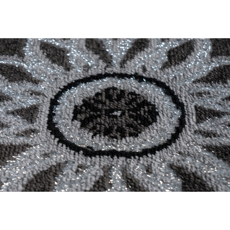 Tapis oriental MEKNES rectangulaire tissé à la machine (Noir) - image 41375