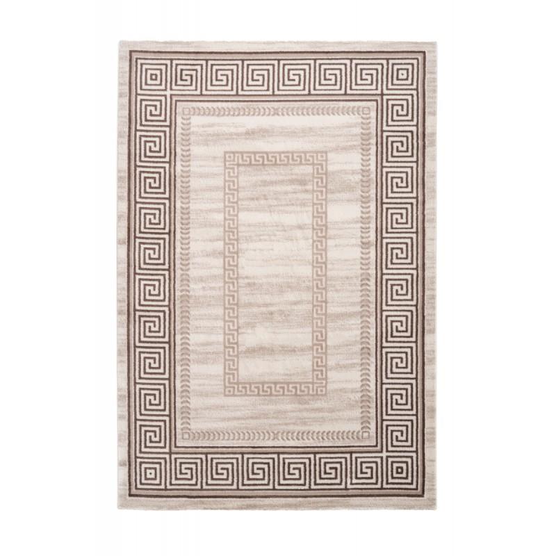 Tapis oriental RABAT rectangulaire tissé à la machine (Beige) - image 41388