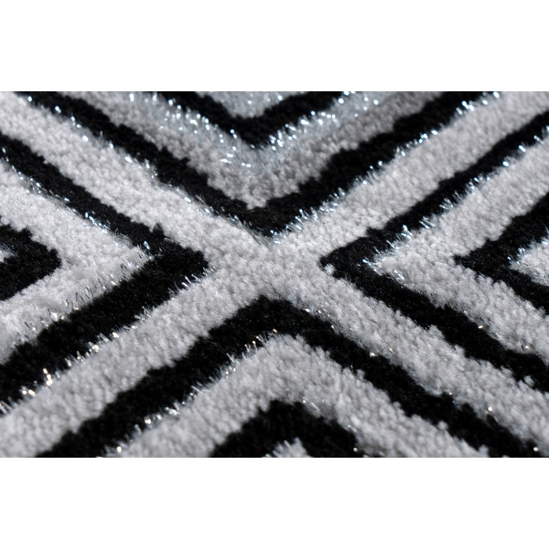 Tapis oriental RABAT rectangulaire tissé à la machine (Gris) - image 41392