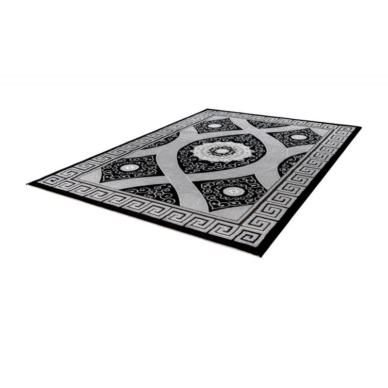 Tapis oriental TETOUAN rectangulaire tissé à la machine (Noir) - image 41396
