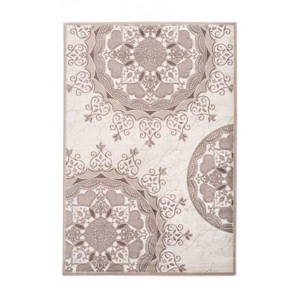 Oriental rug rectangular TANGIER woven machine (Beige)