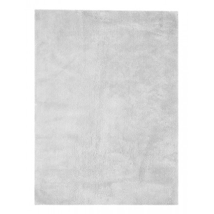 Tapis design et contemporain BALI rectangulaire fait main (Gris)