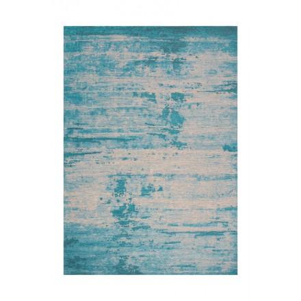 Vintage alfombra ROULY rectangular tejido a máquina (azul turquesa)