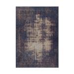Tapis vintage PORTLAND rectangulaire tissé à la machine (Bleu)