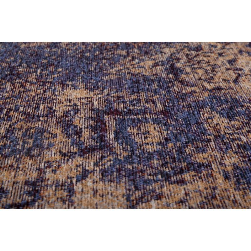 Tapis vintage PORTLAND rectangulaire tissé à la machine (Bleu) - image 41433