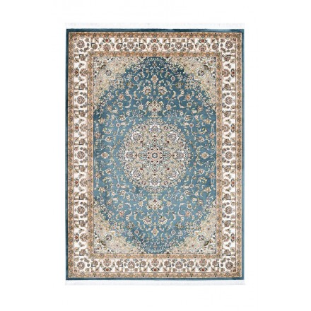 Oriental rug rectangular Moroccan woven machine (blue)