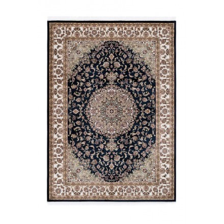 Oriental rug rectangular Moroccan woven machine (Navy Blue)