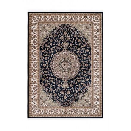 Orientteppich rechteckige marokkanischen gewebte Maschine (Marineblau)
