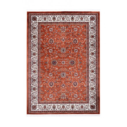 Oriental rug rectangular OUJDA woven machine (rust)