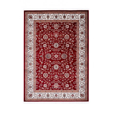 Oriental rug rectangular OUJDA woven machine (red)