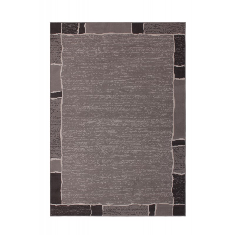 Tapis design et contemporain OKLAHOMA rectangulaire tissé à la machine (Gris) - image 41475