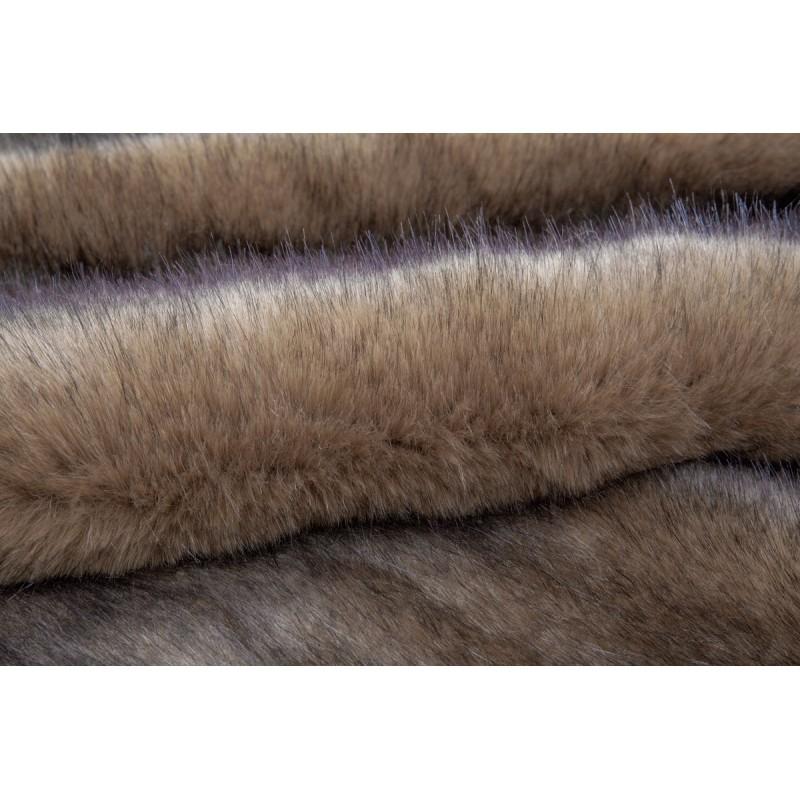 Tapis imitation mouton CHICAGO rectangulaire tufté à la main (Marron) - image 41489