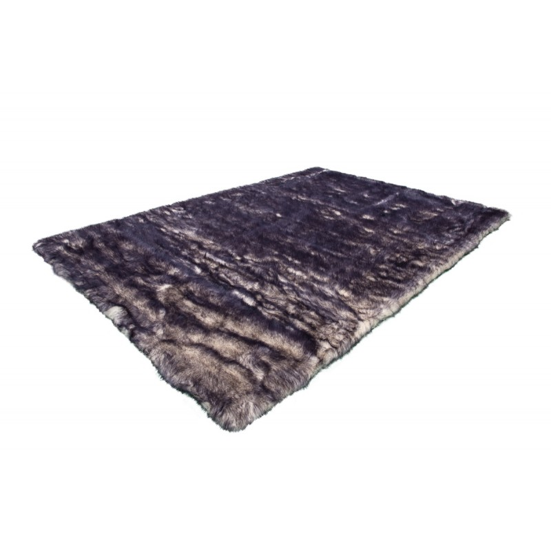 Carpet CHICAGO sheep imitation rectangular tufted by hand (purple Beige) - image 41494
